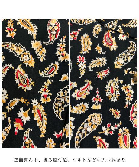 Paisley pattern black rétro dress-1731-3