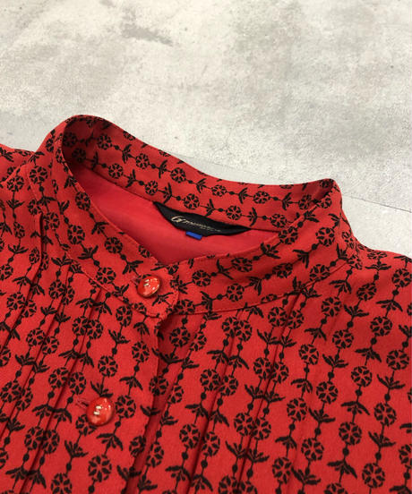 Groumere stand collar rétro dress-1769-3