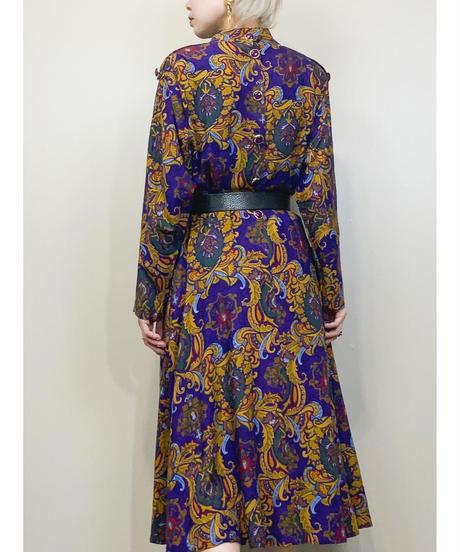 ROBBIE BEE stand neck purple dress-1551-11