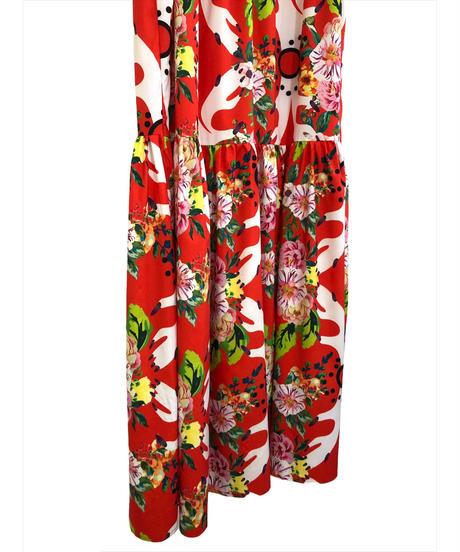 Botanical design muumuu vintage maxi dress-1853-4