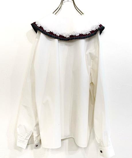 Bechamel pleats design big collar shirt-1674-2