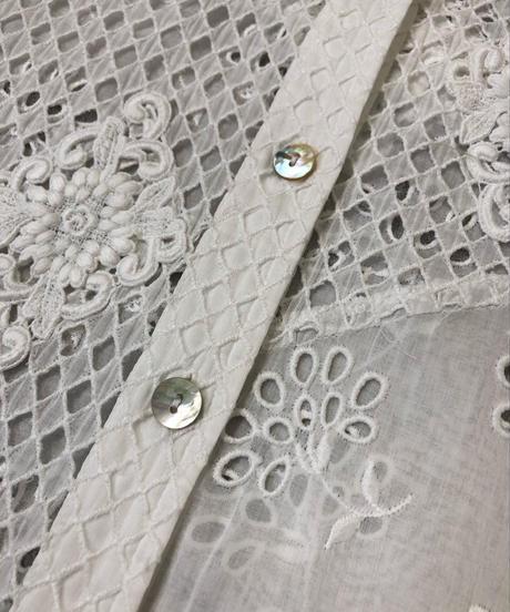 Soufu Kuya embroidery lace shirt-1319-8