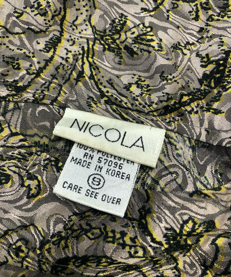 NICOLA greige color classical tops-1655-2