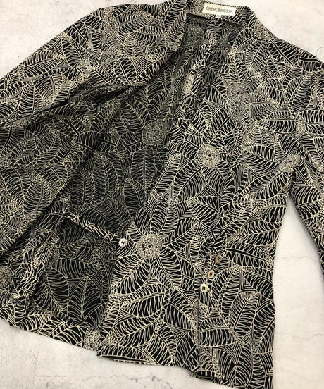 CHERUBINESSA exotic flower shirt jacket-1839-4
