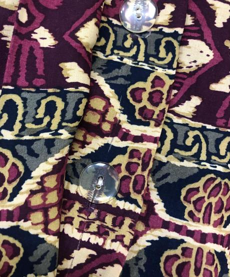 MAGGY LONDON exotic design shirt dress-1437-10