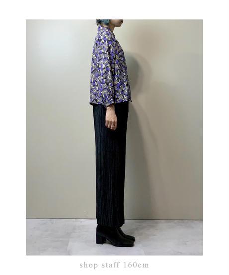 Embossed design purple rétro shirt-2145-9