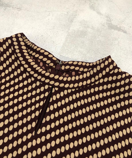 ROSACE brown color dot design set up-1740-3