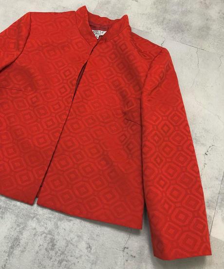 KASPER vintage  jacquard jacket-1692-2