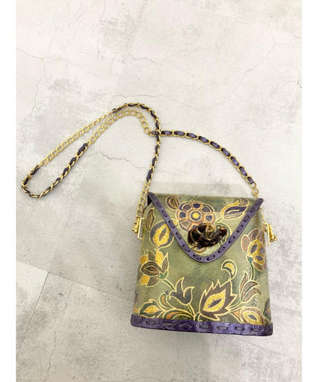 Painting flower gold chain bag-1930-6