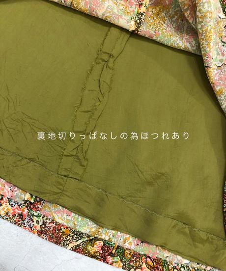 Antique color volume vintage maxi dress-1855-4
