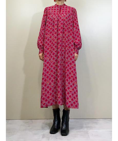 Stand-up collar rétro girl dress-1382-9
