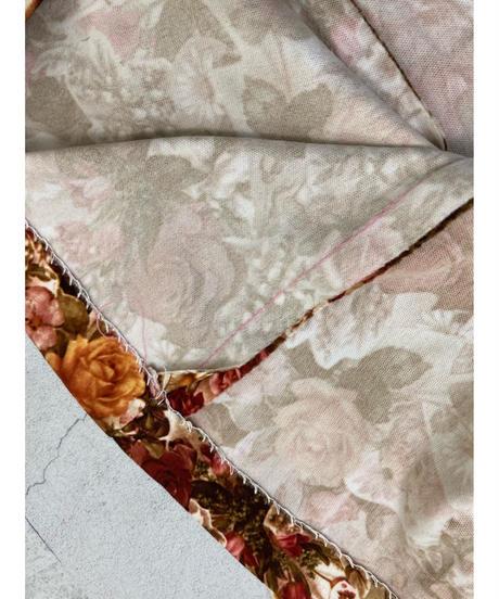 Autumn color vintage flower dress-1519-11