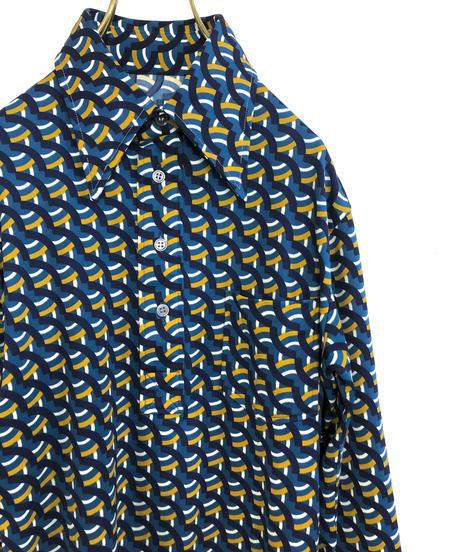 Mogi Japan rétro design blue shirt-1569-12