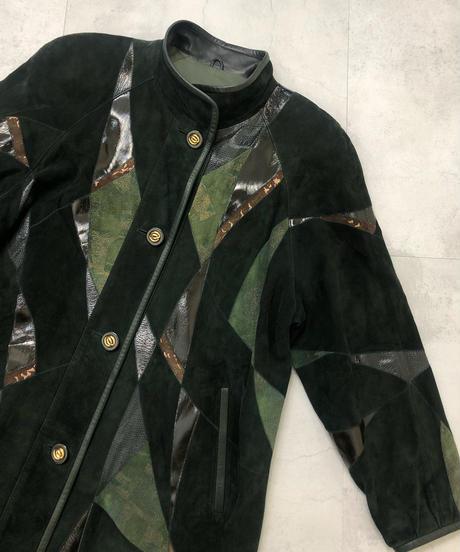 Zaspel ram leather deep green jacket-1567-12