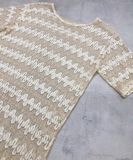 Ivory & gold glitter lace design tops-1936-6
