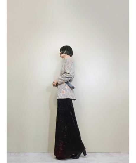 Pale tone paisley pattern elegant jacket-1566-12