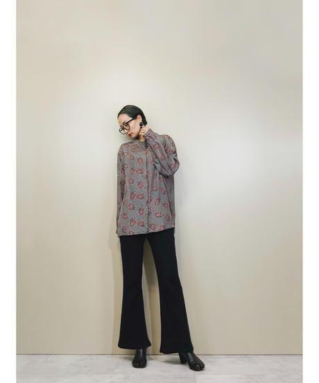 Reine seide roll collar shirt-939-3