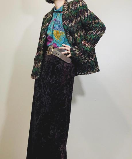 La Bell Vie chevron pattern jacket-1583-12