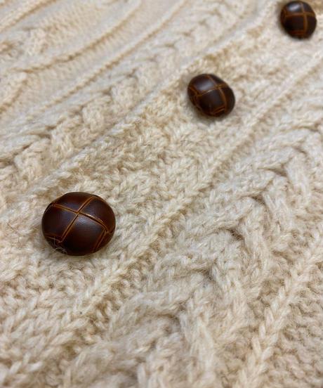 aran crapts MADE IN IRELAND knit cardigan-2189-9