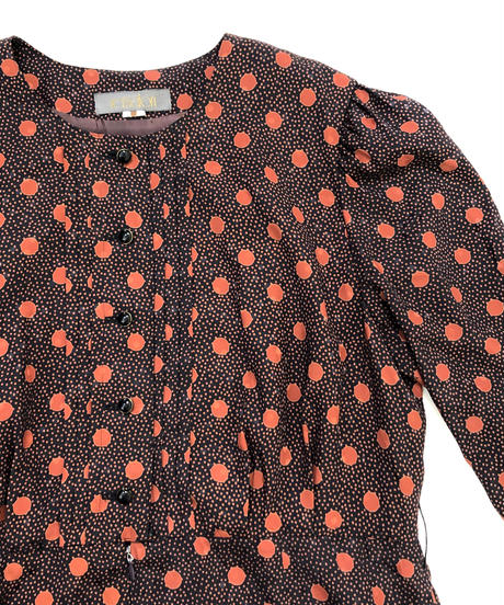 remalon dot rétro Flare dress-887-2