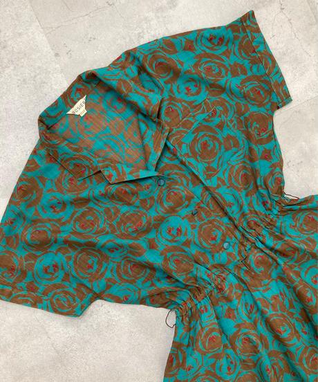 K.ROSIER flower design open collar dress-1929-Kj