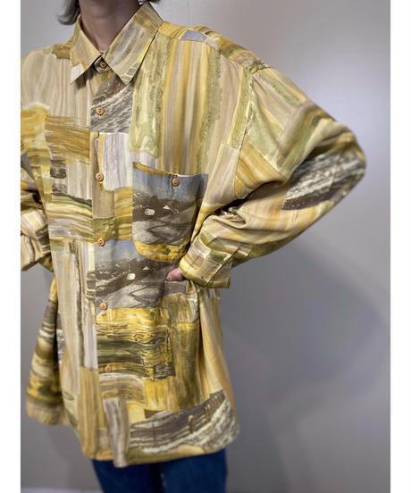 Kevinelli PARIS over size import shirt-2178-9