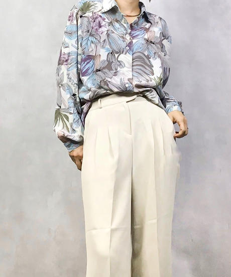 C&A water color painting flower shirt-1038-4