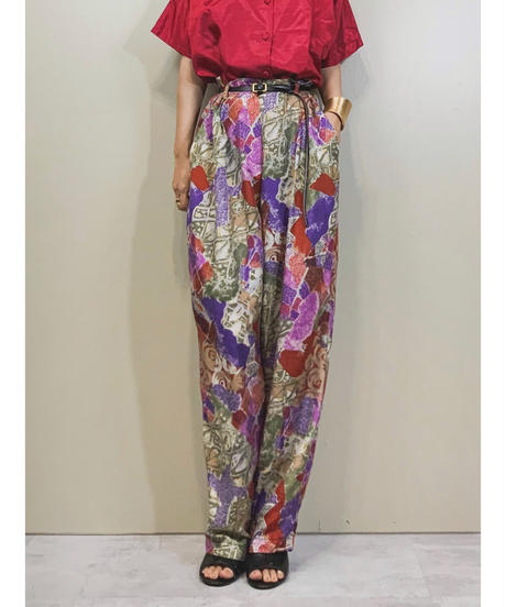 Totally-U- BY ALI import silk pants-1285-7