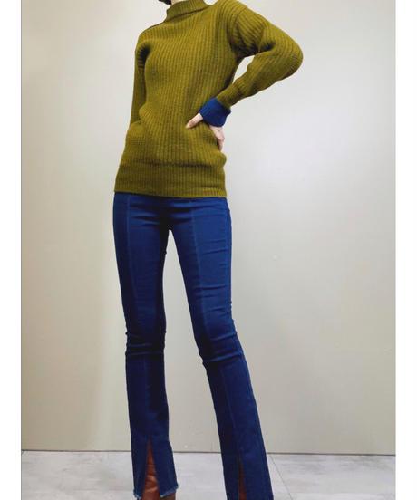 renoma PARIS right shoulder zip knit-1579-12
