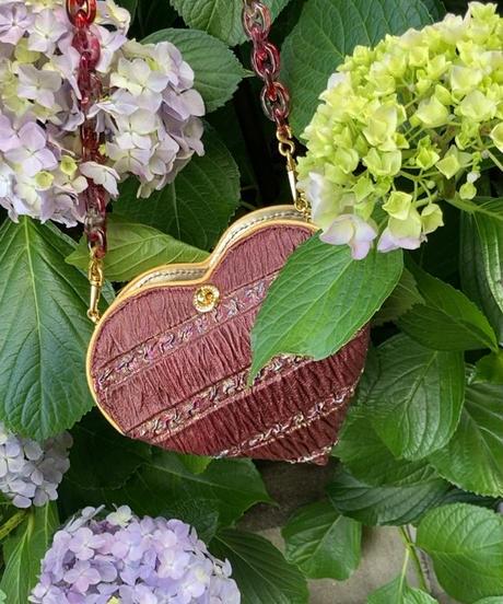Heart-shaped clear chain bag-1932-6