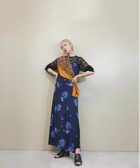 Hydrangea  design scarf  set  france dress-1250-7