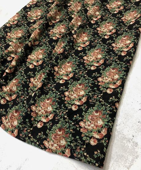 Flower design retro import dress-1162-6