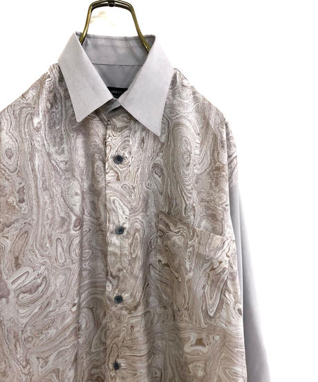 GREEN LINE SPORTS marble pattern shirt-1746-3