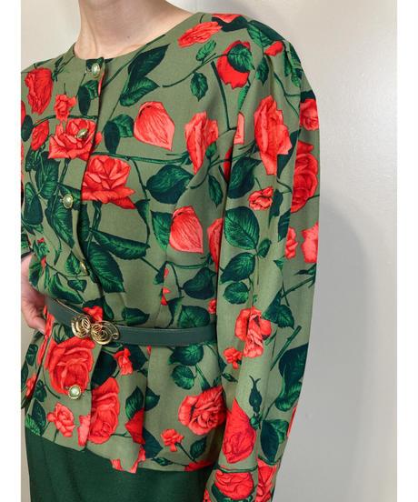 CRIER TOKYO bright rose pattern tops-1829-4