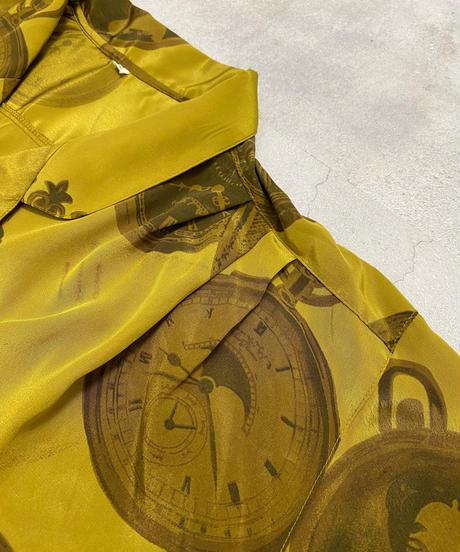 Classical clock tailored collar shirt-2165-9