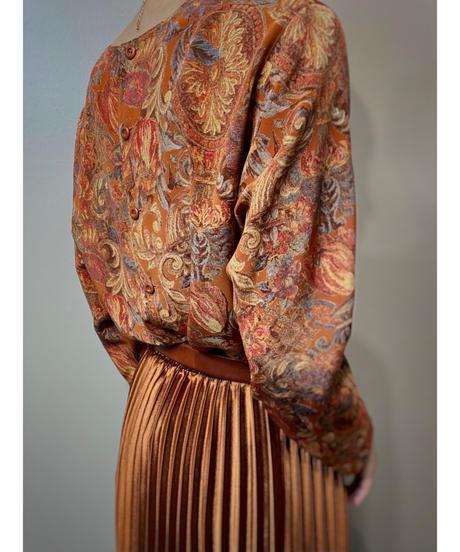 KORET orange color back button tops-2201-10