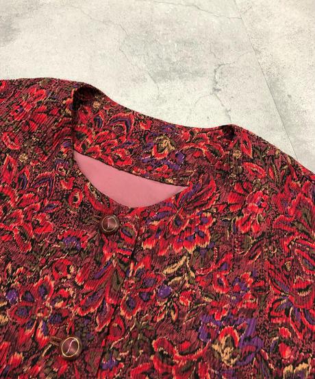 Warm colors floral rétro tops-1643-2