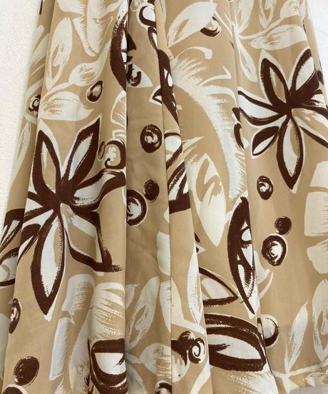 Cafe au lait color flare design dress-1977-6