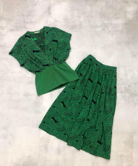 CORDIER swirl design green set up-1811-4
