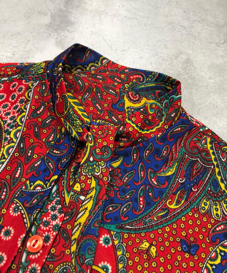 Primary colors rétro bowtie shirt-1699-2