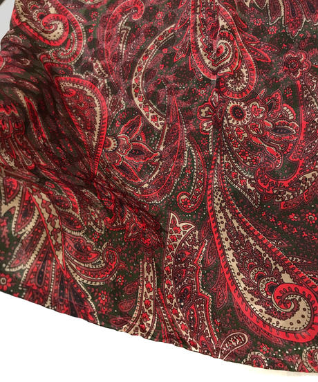 ELAN wine red paisley pattern shirt-1082-4