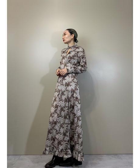front cutout design rétro maxi dress-2218-10