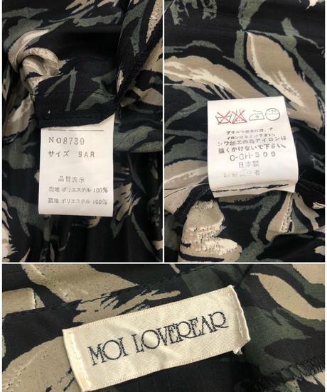 MOI LOVEREAR leaf design black dress-1802-4