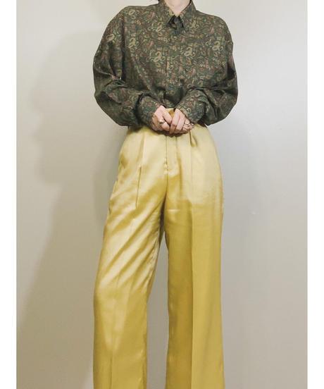 OLLY GAN green paisley pattern shirt-1664-2