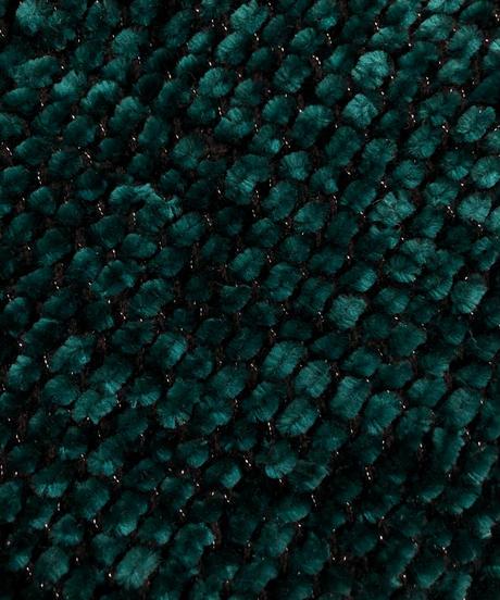 Rétro green color Mall yarn knit-1620-1