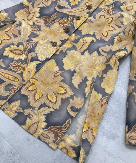 Exotic design linen and silk  material jacket-1805-4