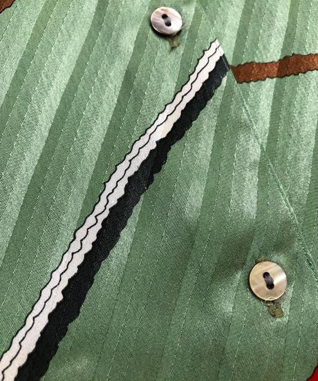LADIES FASHION Mew Rock pale green rétro shirt-1719-3