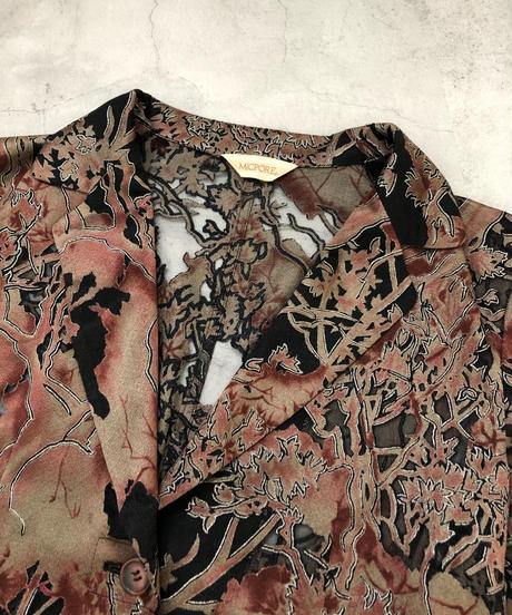 MICPORE forest sheer design shirt  jacket-1848-4