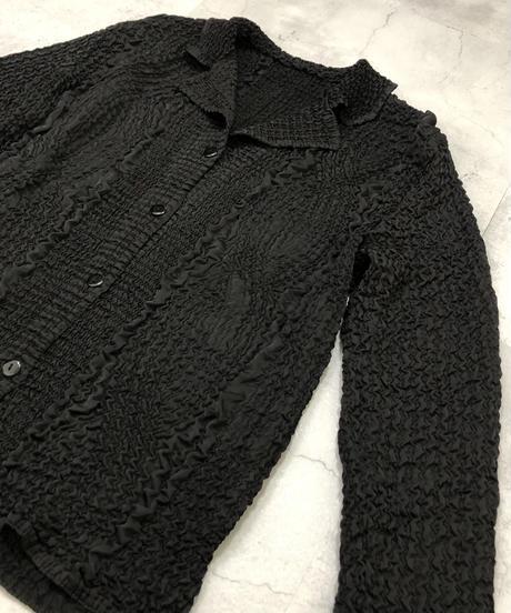 Emboss design  black color shirt-1792-4