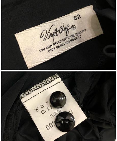 Vingt-Cing black high neck tops-1799-4